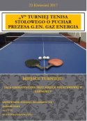 V turniej tenisa stołowego o puchar Prezesa G.EN. GAZ Energia